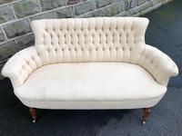 Antique English Upholstered Sofa (5 of 8)