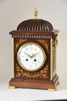 Brass Inlaid Mahogany Bracket Clock (3 of 5)