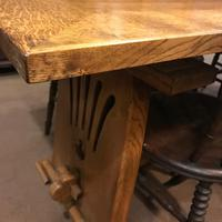 Large Oak Extending Refectory Table (4 of 6)