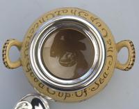 Attractive & Good Royal Doulton Stoneware Motto Ware Lidded Bowl - Tea c.1915 (4 of 8)