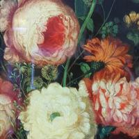 19th Century Victorian Reverse Glass painting Still Life of Floral design (3 of 8)