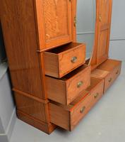 Stunning Victorian Satinwood & Marquetry Compactum Wardrobe (9 of 24)