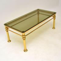 Vintage 1970's Brass & Glass Coffee Table (3 of 7)