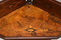 Antique Victorian Walnut Inlaid Corner Whatnot (15 of 15)