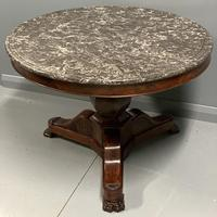 French Empire Gueridon Centre Table with Marble Top (2 of 7)