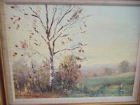Charles Brooker Oil on Board - Part of Ashdown Forest (2 of 4)