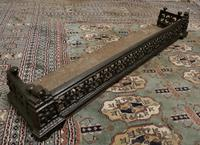 Victorian Arts & Crafts Cast Iron Fender Decorated with Sun Flowers (3 of 5)