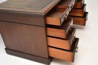 Antique Victorian  Mahogany Pedestal Desk (8 of 12)