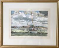 'Watercolour of Bosham' by Chichester Artist Peter Iden (2 of 2)