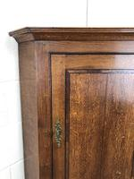 Georgian Oak Wall Hanging Corner Cupboard (4 of 8)