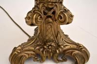 Antique Victorian Brass Table Lamp (6 of 7)
