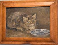 Charming Oil Painting of a Cat (3 of 7)