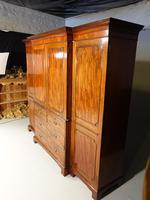 George III Period Mahogany Breakfront Wardrobe (4 of 8)