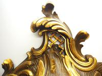 Impressive French Carved Cartel Wall Clock 8 Day Movement Scrolling leaf design 84cm High (7 of 13)