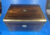Georgian  Rosewood Brassbound Vanity Box (3 of 34)