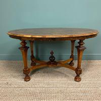 Magnificent Victorian Figured Walnut Antique Centre Table (5 of 9)