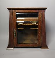 Antique Art Nouveau Oak Smokers Cabinet (9 of 13)