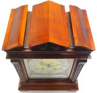 Wow! Superb Antique German Burr Walnut 8-Day Mantel Clock Striking Bracket Clock by Lenzkirch (9 of 10)