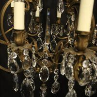 French Bronze 12 Light Antique Chandelier (6 of 10)