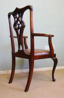 Antique Mahogany Georgian Style Desk Chair (3 of 7)