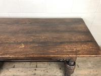 Antique Carved Oak Refectory Dining Table (10 of 15)