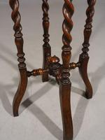 Early 20th Century Oak Jardinière Stand (5 of 5)