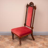 19th Century Walnut Barley Twist Prie Dieu Chair (9 of 15)