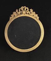 Edwardian Brass Circular Easel Photo Frame (4 of 4)