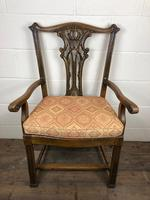 Pair of 19th Century Chippendale Style North Country Armchairs (3 of 10)