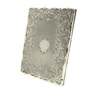 Antique Victorian Sterling Silver Card Case 1862 (5 of 8)