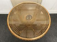 Round Walnut Glass Top Coffee Table (4 of 10)