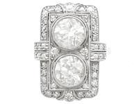 4.84ct Diamond & Platinum Dress Ring - Art Deco - Antique French c.1920 (4 of 9)