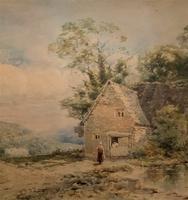 William Charles Goddard Near Saltash Cornish Landscape Painting (2 of 14)