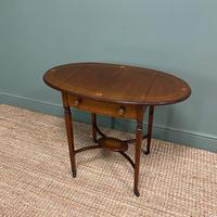 Small Edwardian Inlaid Mahogany Antique Sofa Table (4 of 9)