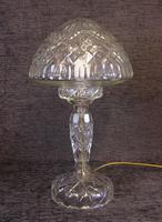 Quality Cut Glass Mushroom Table Lamp