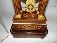 French Rosewwod Portico Clock Complete with Dome & Stand (9 of 9)