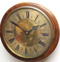 English Dial Wall Clock Rare Station Public Fusee Dial Wall Clock by Sam Aldworth at Childrey Berkshire (2 of 12)