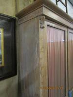 Victorian Limed Oak Glazed Bookcase (5 of 5)