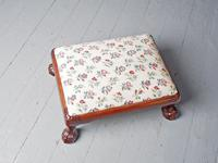 Carved Mahogany Footstool by Whytock & Reid (5 of 5)