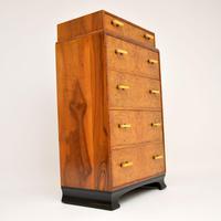 1930's Art Deco Burr Elm & Walnut Chest of Drawers (5 of 11)