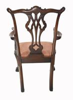 Set of Chippendale Dining Chairs Mahogany Antique 1890 Ball Claw (8 of 9)