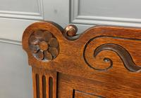 Late 19th Century Carved Oak Bench (5 of 12)