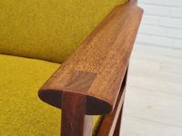 "Danish Design by Illum Wikkelsø Armchair ""Capella"" Series, 70s, Teak, Renovated-reupholstered (10 of 13)"