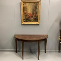 18th Century Decorated Demi-lune Console Table (6 of 11)