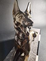 Art Deco Metal Dog Sculpture (3 of 7)