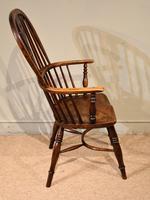 Mid 19th Century Ash & Elm High Back Windsor Armchair (3 of 7)