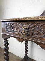Victorian Gothic Oak Side Table with Green Man Details (11 of 17)