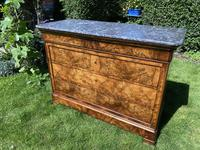 French Louis Philippe Commode in Figured Walnut (3 of 9)