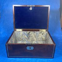 Georgian Brass Inlaid Mahogany Jewellery Box. (11 of 20)