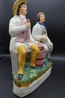 Late 19th Century Staffordshire Figure of Tam O Shanter & Souter Johnny (2 of 4)